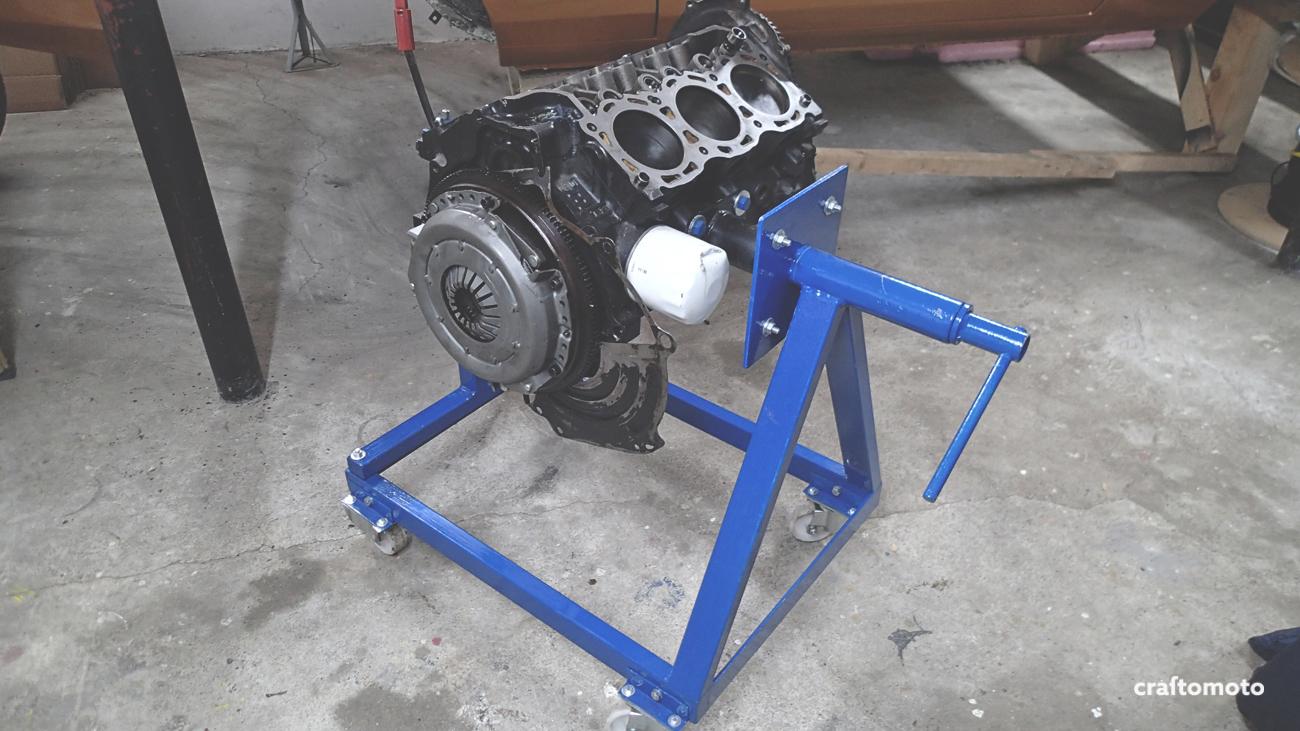 Home made engine stand