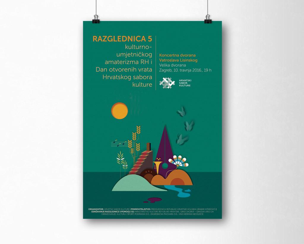 Hrvatski sabor kulture - Razglednica 2016 poster