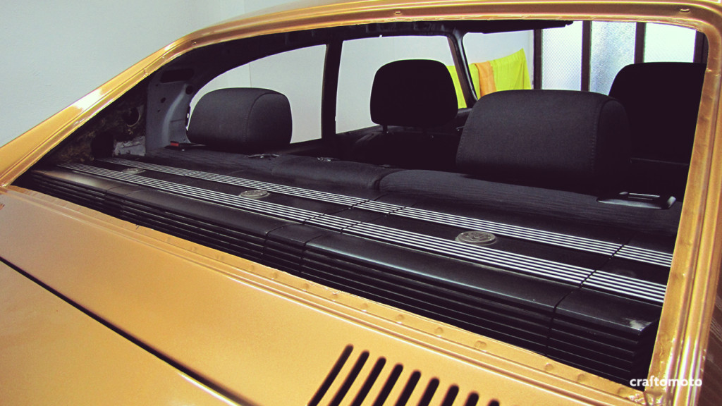 Ford Capri custom amplifier rack