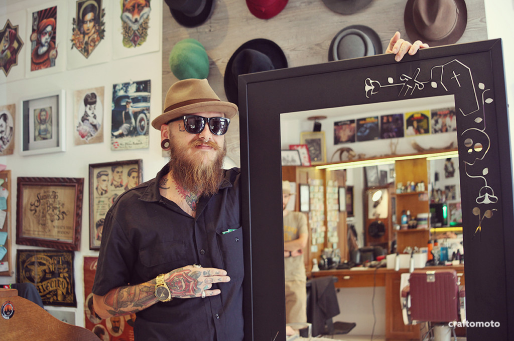 Polyboy Barbershop custom mirror