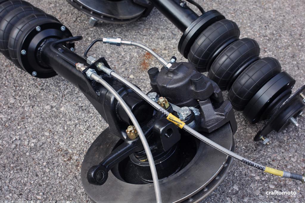 Custom Ford Capri struts